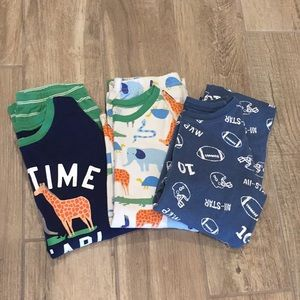 Boys Bundle of Carter Long Sleeve PJ Sets Size 12
